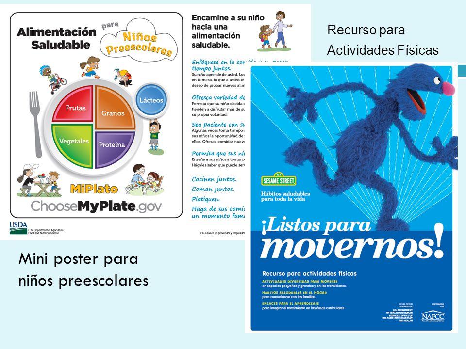 Mini poster para niños preescolares Recurso para Actividades Físicas