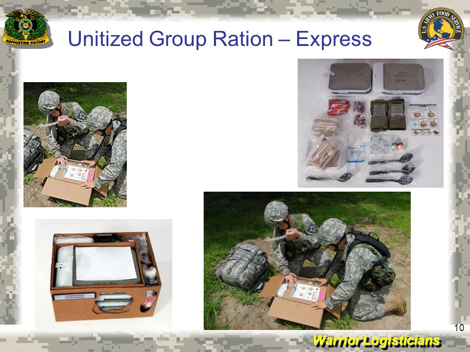 Warrior Logisticians 10 Unitized Group Ration – Express