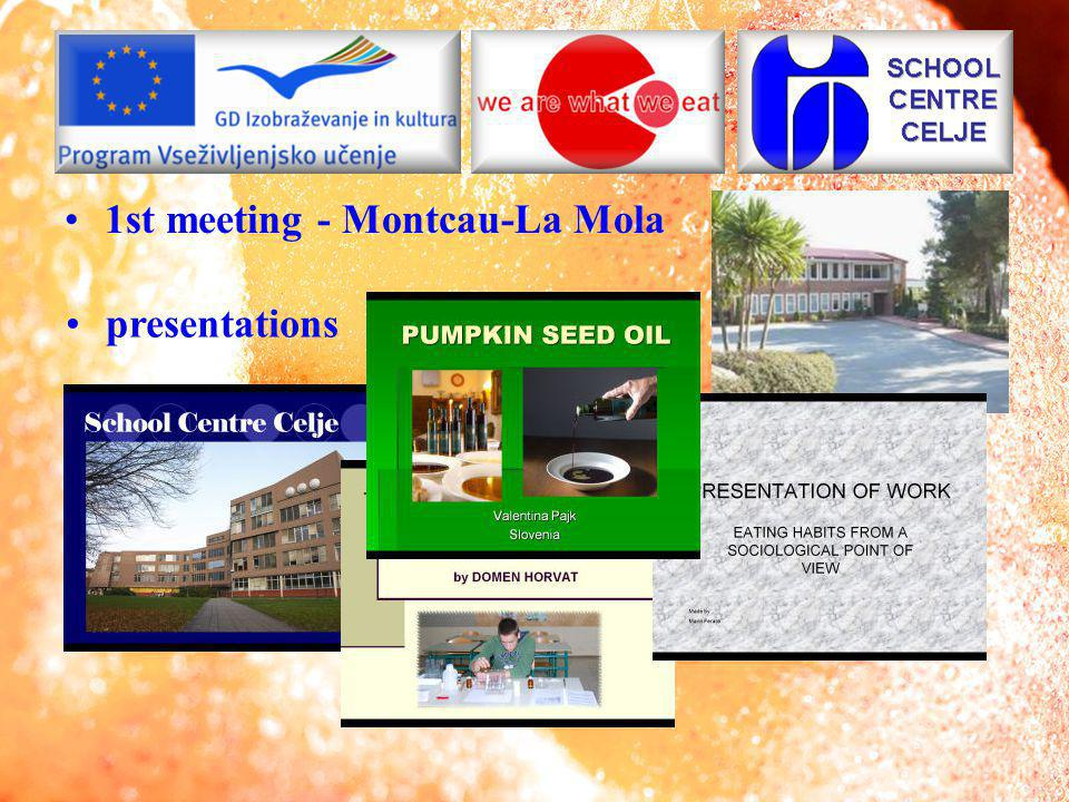 1st meeting - Montcau-La Mola presentations