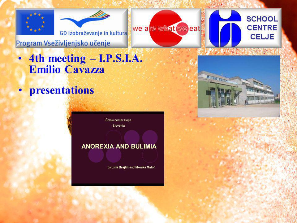 4th meeting – I.P.S.I.A. Emilio Cavazza presentations