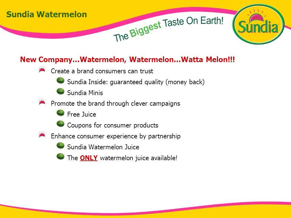 Sundia Watermelon New Company…Watermelon, Watermelon…Watta Melon!!.