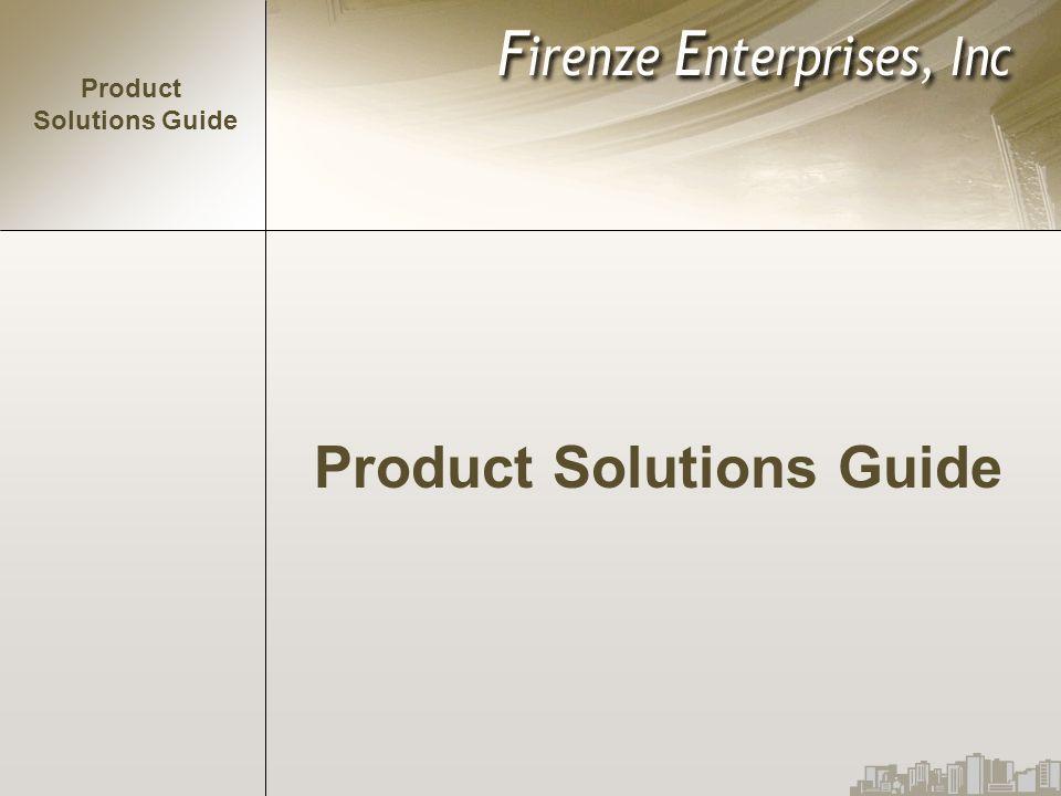 Product Solutions Guide Product Solutions Guide