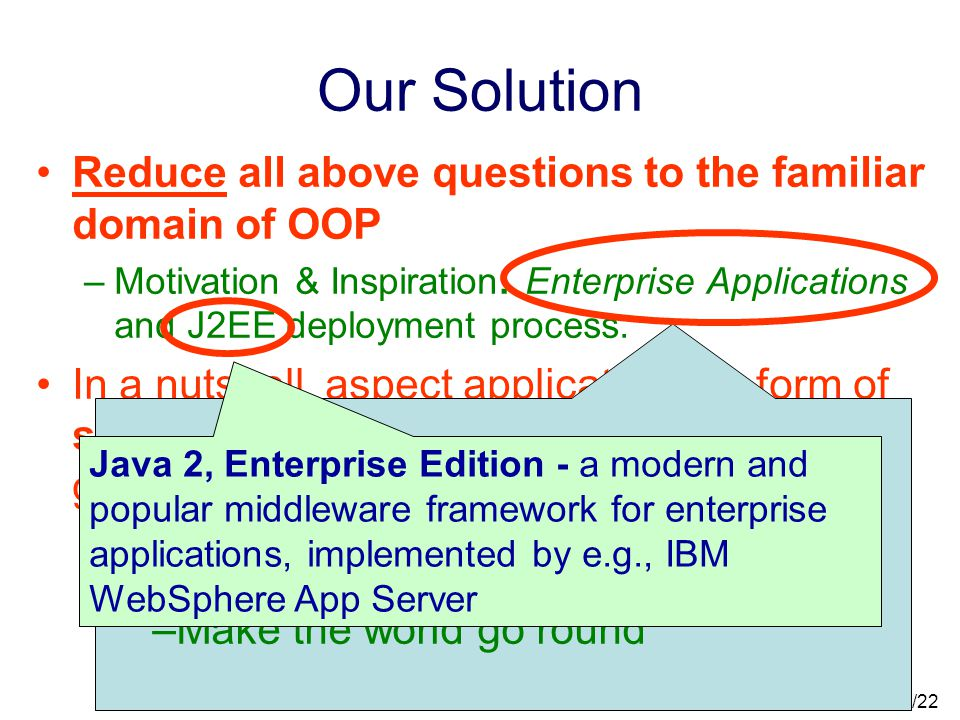 30/22 What is Aspect Application. How can we make AOP more than a fancy pre-processor.
