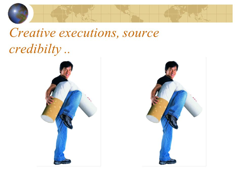 Creative executions, source credibilty..
