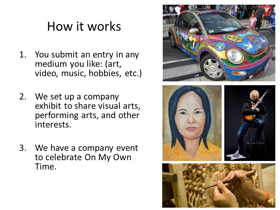 What is On My Own Time. A program designed to help us create a happier, healthier workplace.