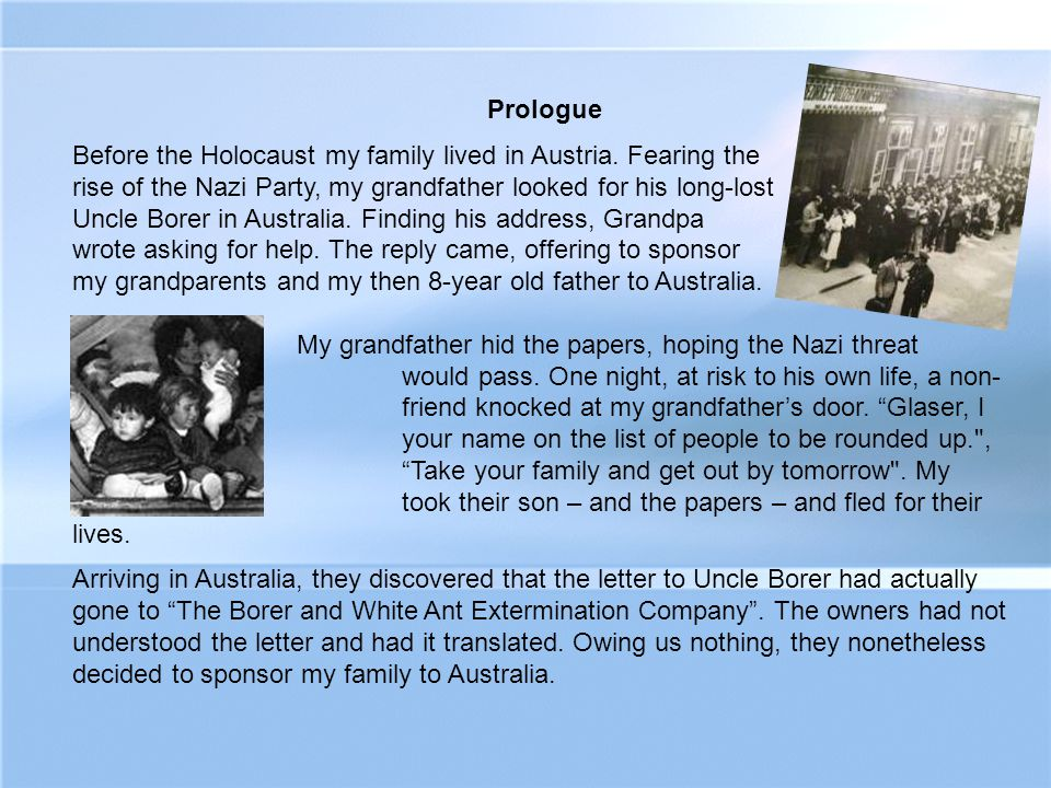 Two acts of moral bravery – by the German friend and by the Australian business owners - saved my family.