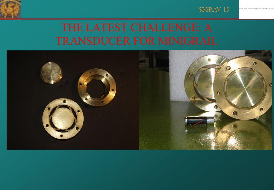 SIGRAV 15 PRECISION MACHINING: The rosette capacitive transducer; gap=9 m
