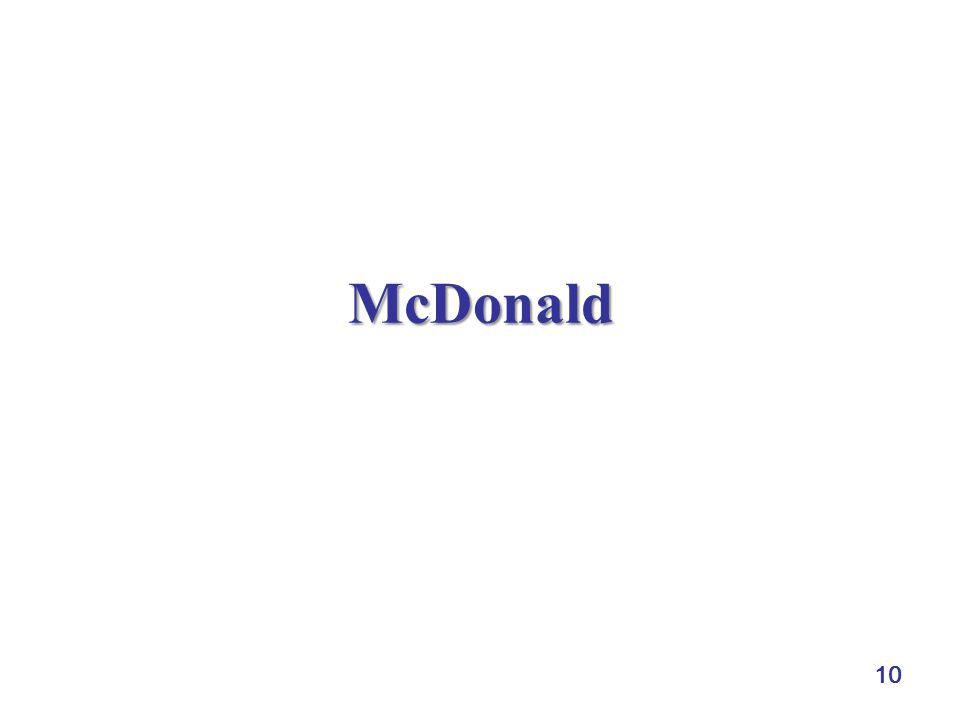 10 McDonald