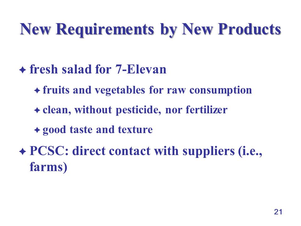 21 New Requirements by New Products fresh salad for 7-Elevan fruits and vegetables for raw consumption clean, without pesticide, nor fertilizer good t