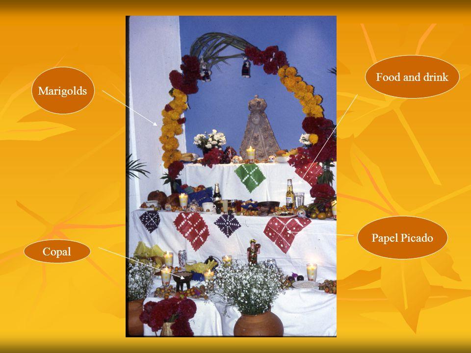 Papel Picado Marigolds Copal Marigold petals