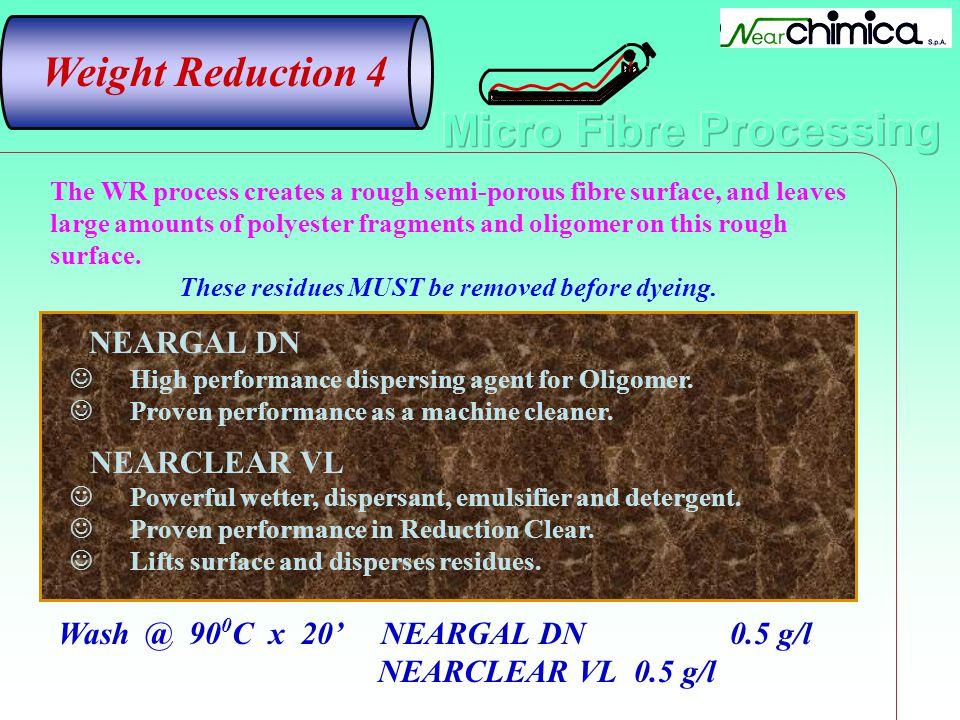 NEARGAL DN High performance dispersing agent for Oligomer. Proven performance as a machine cleaner. NEARCLEAR VL Powerful wetter, dispersant, emulsifi