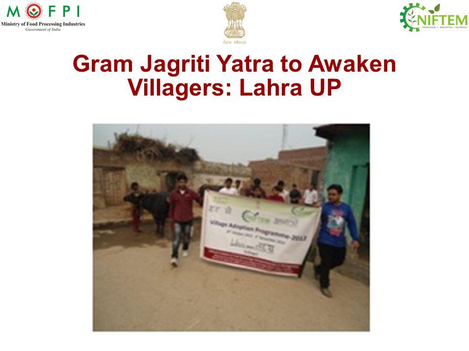 Gram Jagriti Yatra to Awaken Villagers: Lahra UP