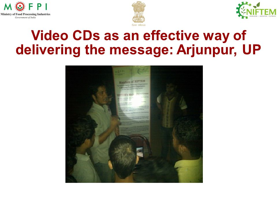 Video CDs as an effective way of delivering the message: Arjunpur, UP