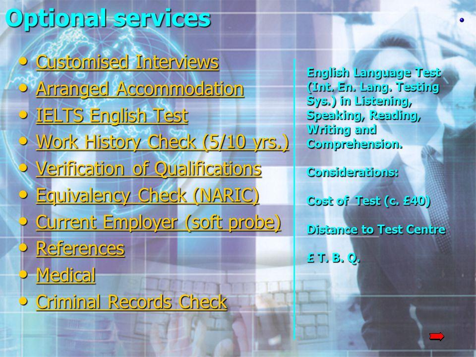 English Language Test (Int. En. Lang.