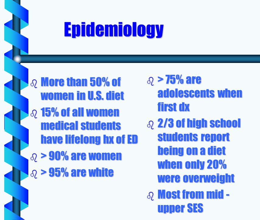 Epidemiology b More than 50% of women in U.S.