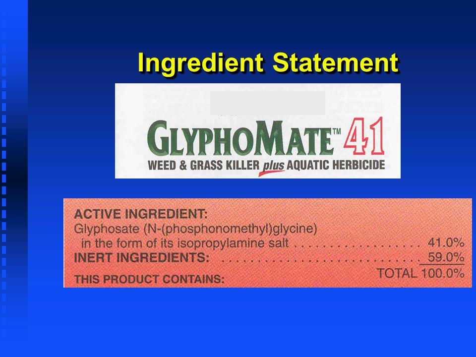 Ingredient Statement