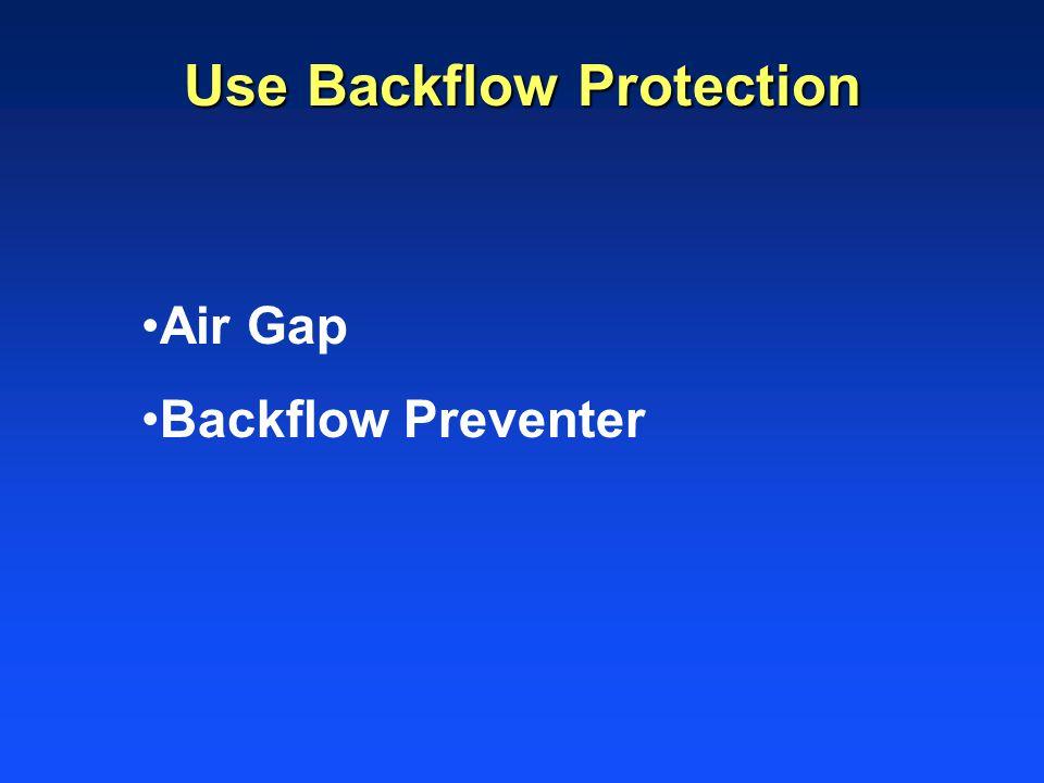 Air Gap Backflow Preventer Use Backflow Protection
