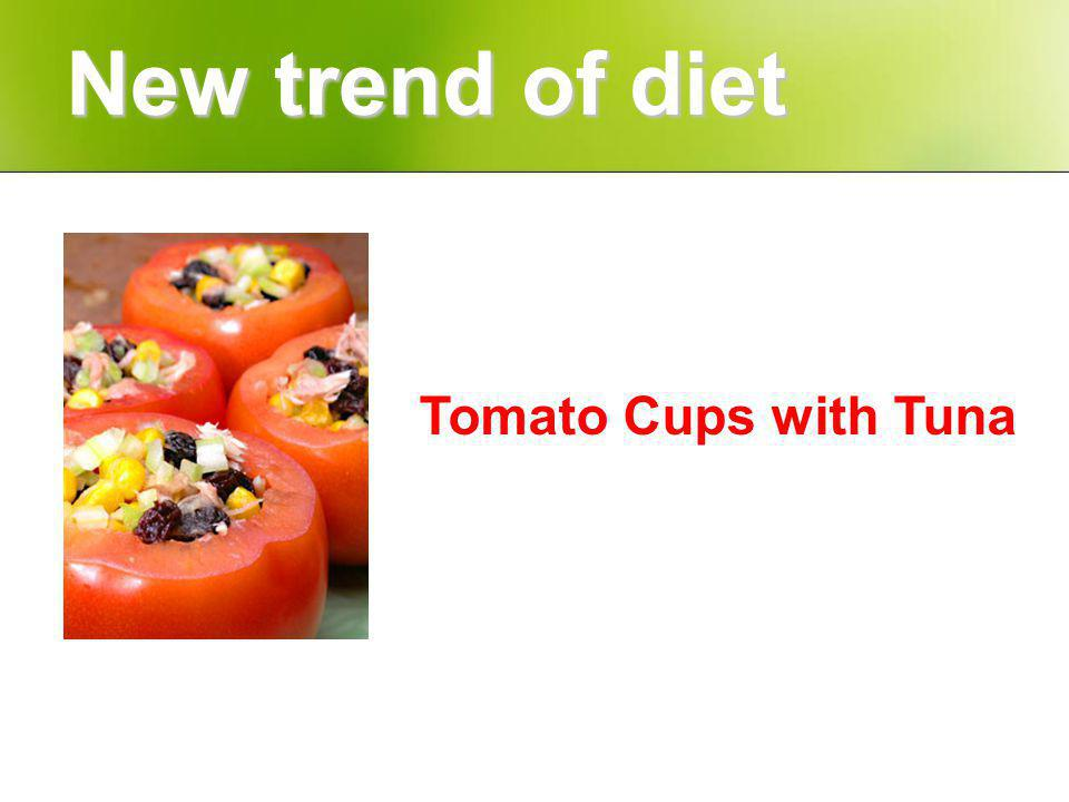 Tomato Cups with Tuna New trend of diet
