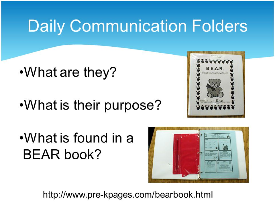 Daily Communication Folders What are they.What is their purpose.