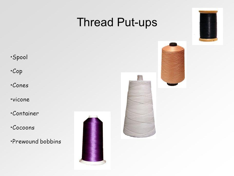 Thread Put-ups Spool Cop Cones vicone Container Cocoons Prewound bobbins
