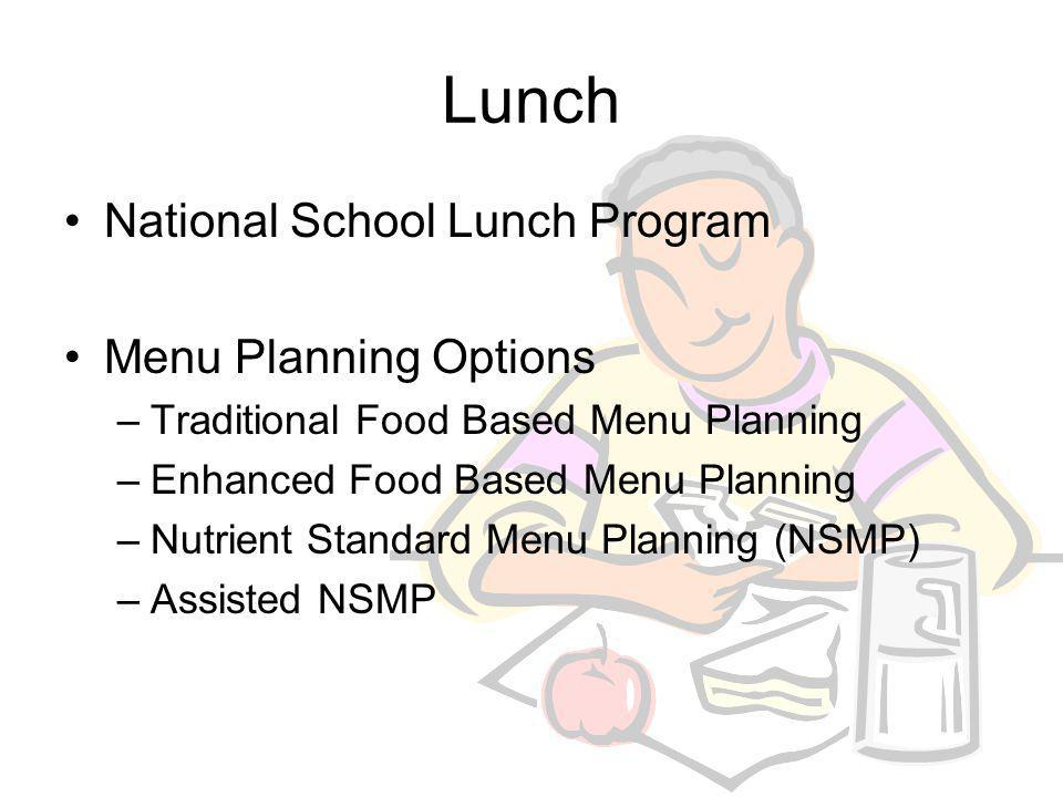 Breakfast School Breakfast Pattern for Traditional Food Based Menu Planning School Breakfast Pattern for Enhanced Food Based Menu Planning Breakfast R