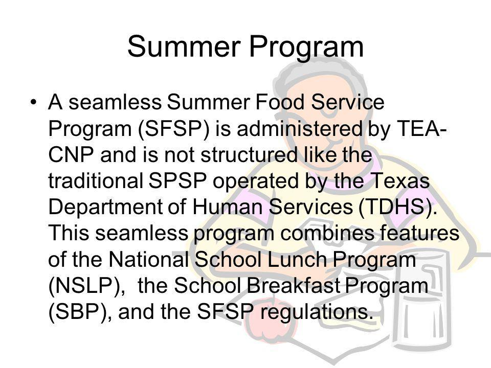 After School Snack Program Eligible Sites Area Eligibility Reimbursement Times of Operation