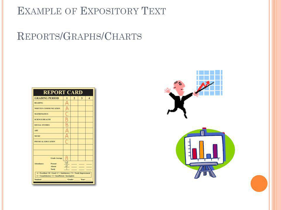 E XAMPLE OF E XPOSITORY T EXT R EPORTS /G RAPHS /C HARTS