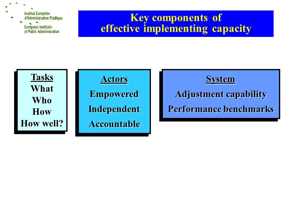 Key components of effective implementing capacity TasksWhatWhoHow How well.