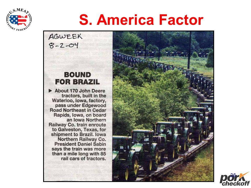 26 S. America Factor