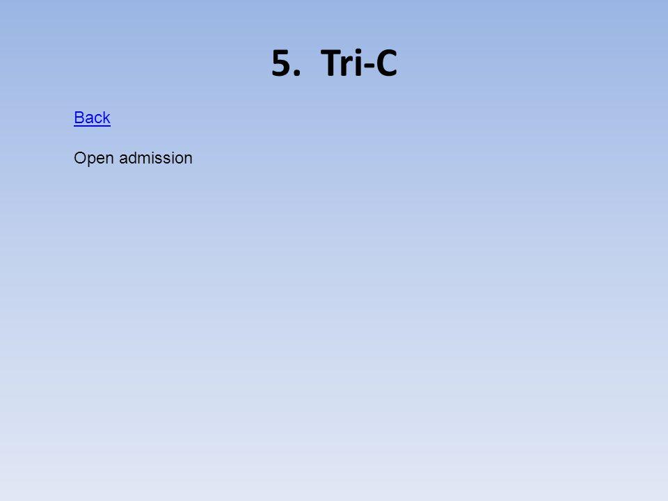 5. Tri-C Back Open admission
