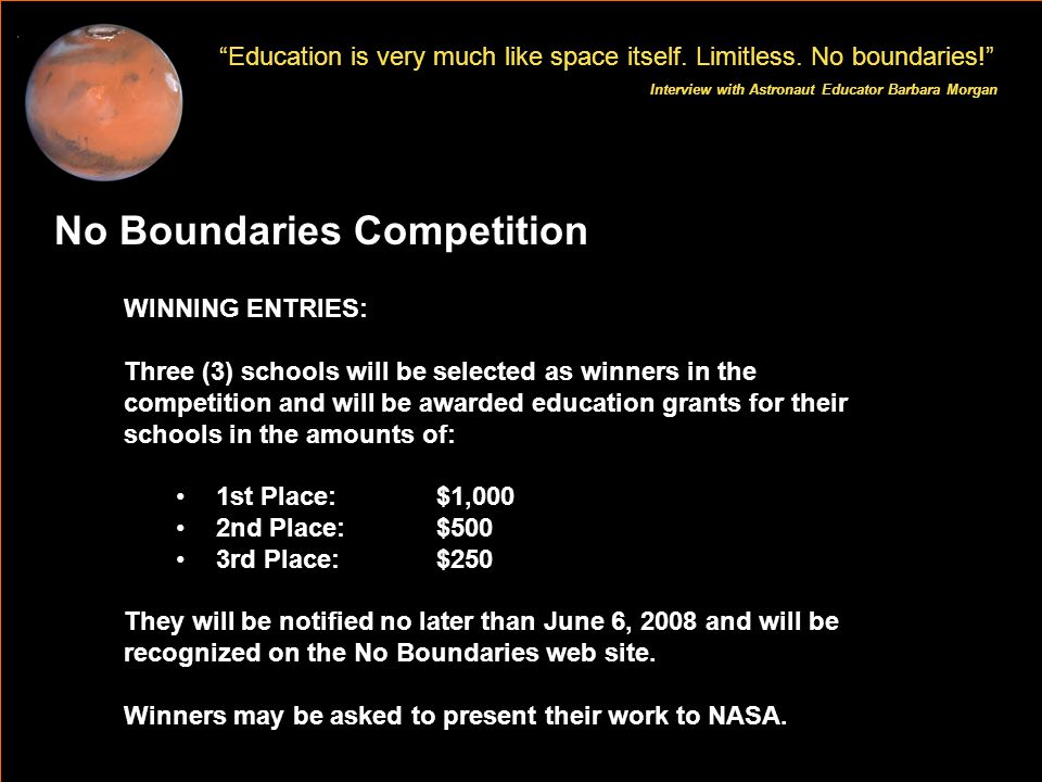 Education is very much like space itself. Limitless.