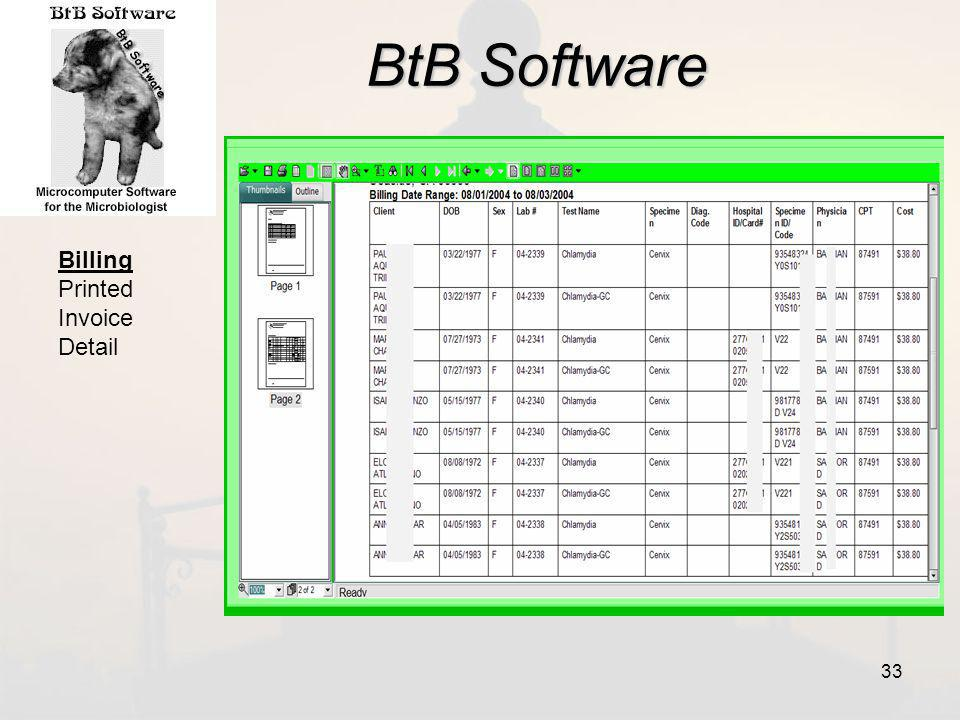BtB Software Billing Printed Invoice Detail 33