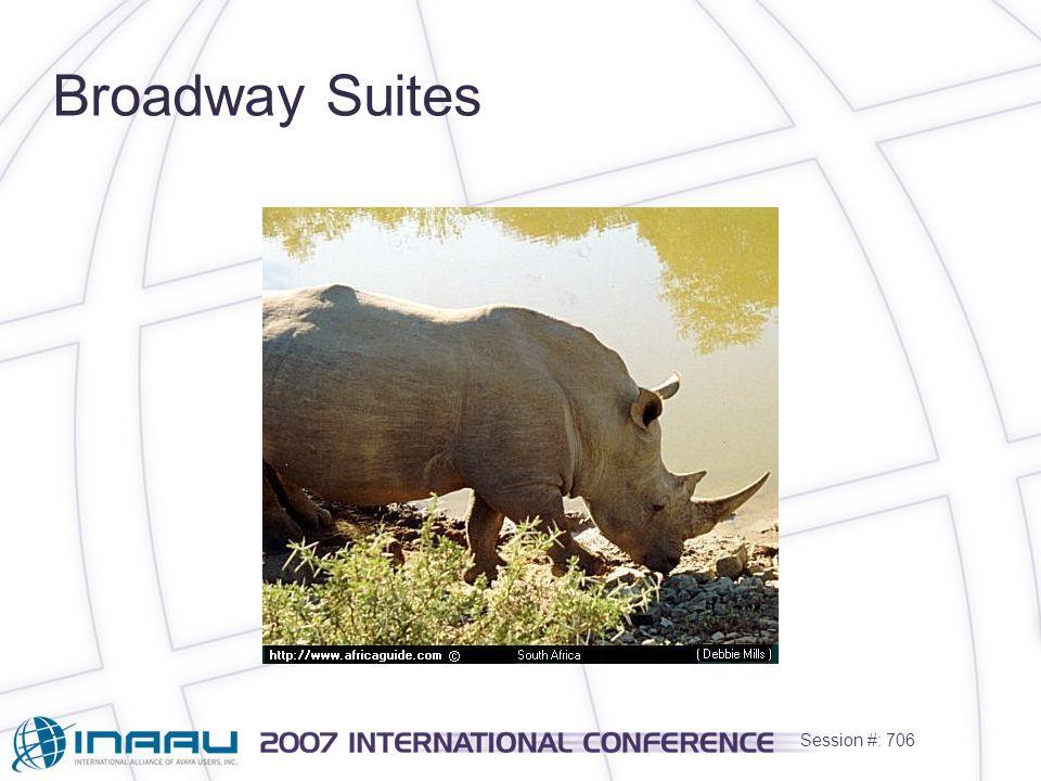 Session #: 706 Broadway Suites