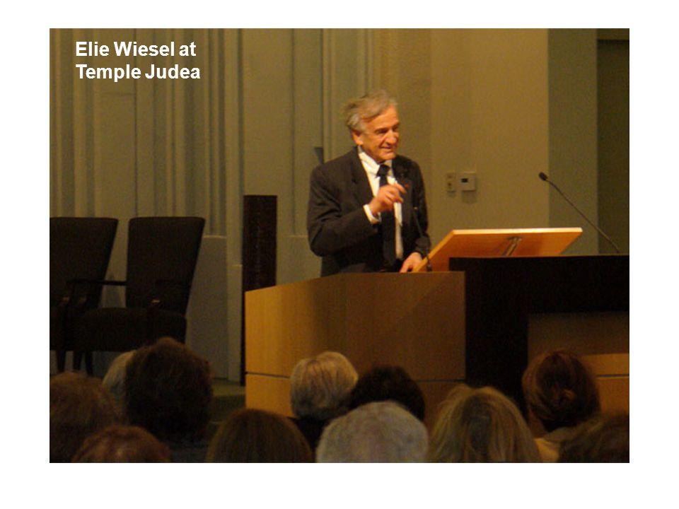 Elie Wiesel at Temple Judea