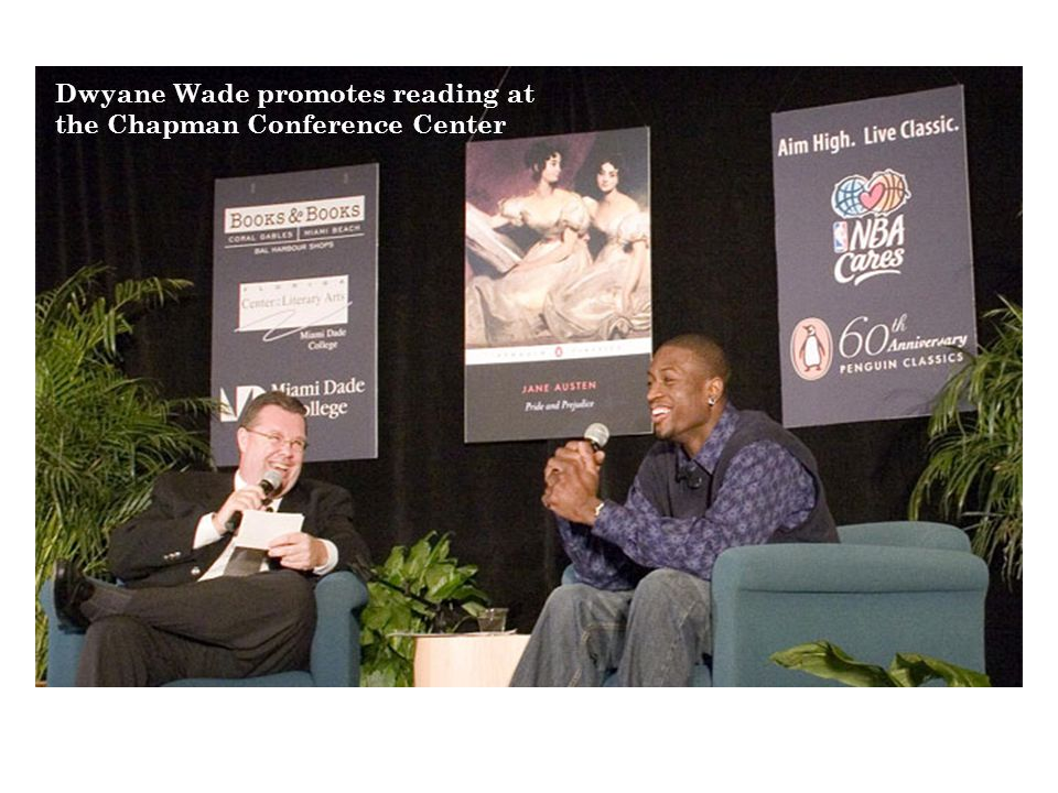 Dwyane Wade promotes reading at the Chapman Conference Center