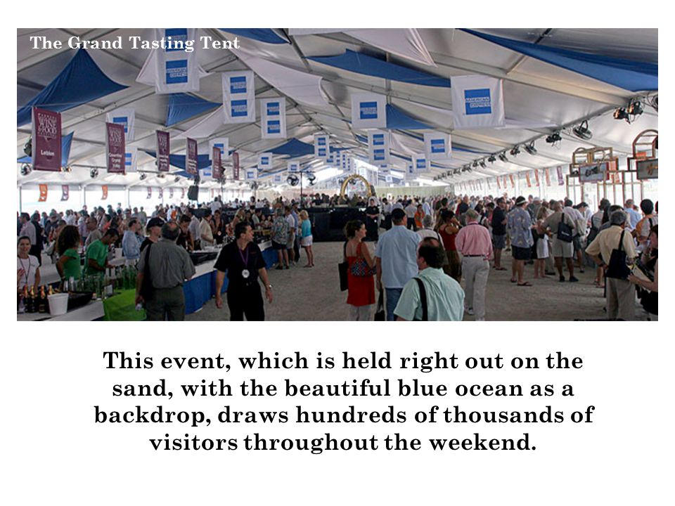 This event, which is held right out on the sand, with the beautiful blue ocean as a backdrop, draws hundreds of thousands of visitors throughout the weekend.