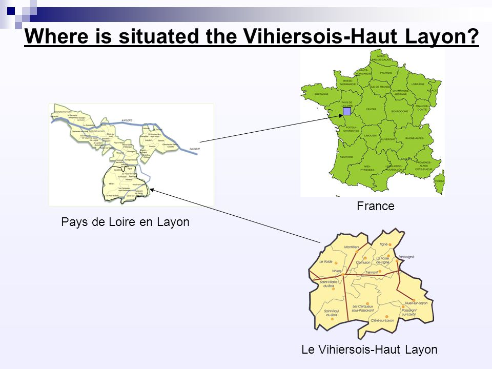 Promotion of local products in the Vihiersois-Haut Layon There are several different productions : Wine with the famous Coteaux du Layon Cattle rearings and other farm cultures Foie gras And other shopkeepers : Bakers shops Delicatessen Artists Vacation homes