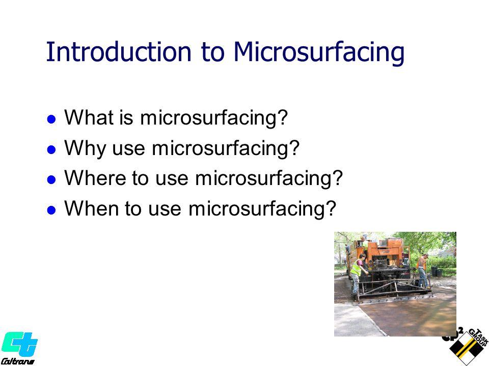 What is Microsurfacing.