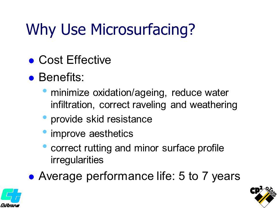 Typical Setup Microsurfacing