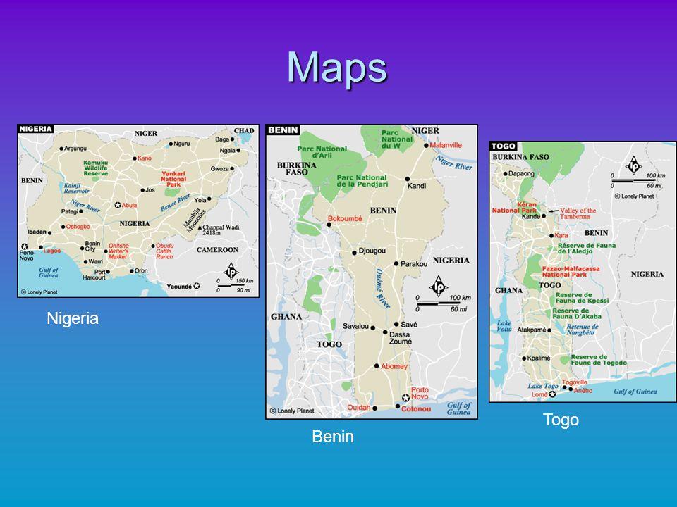 Maps Nigeria Benin Togo