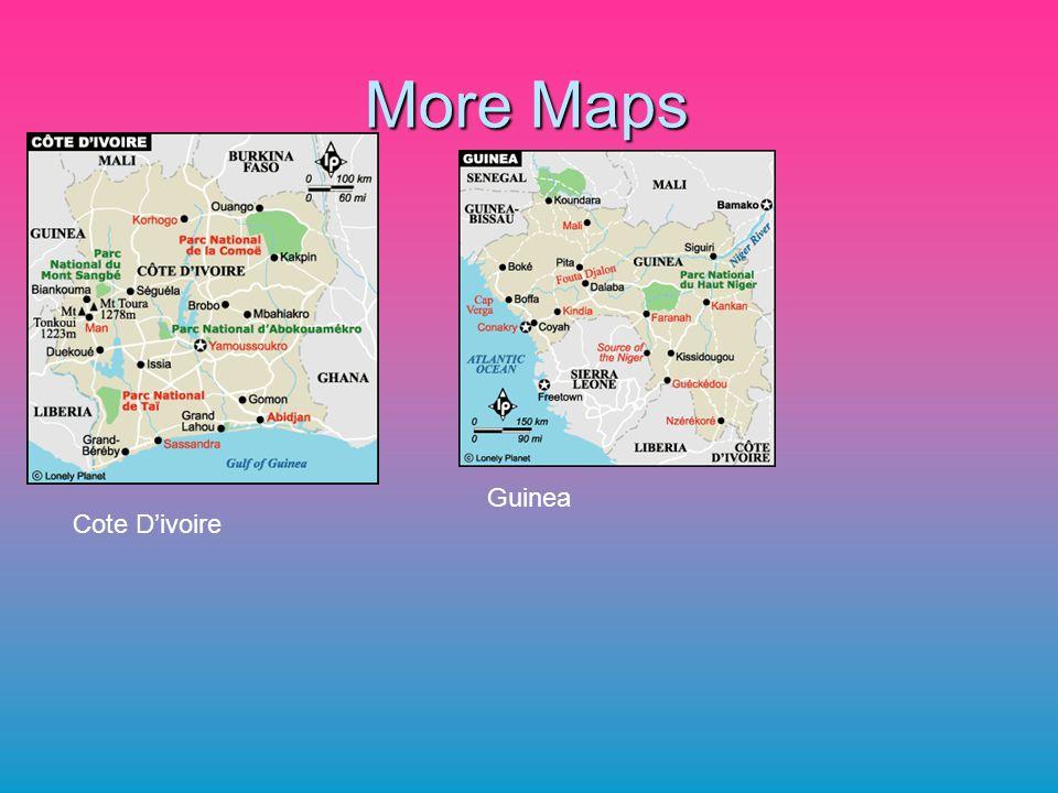 More Maps Cote Divoire Guinea