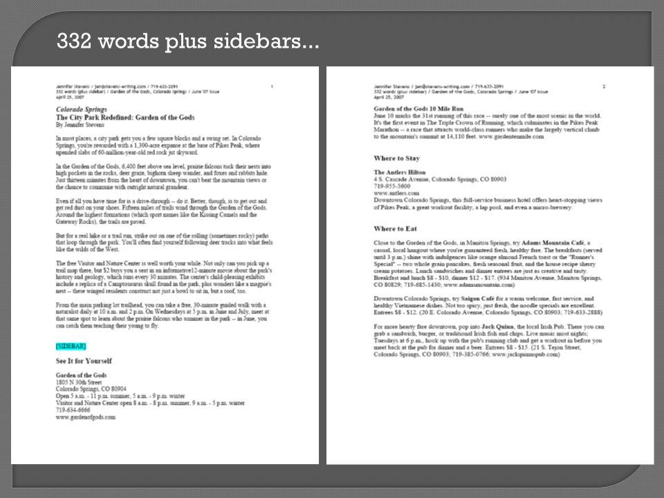 332 words plus sidebars...