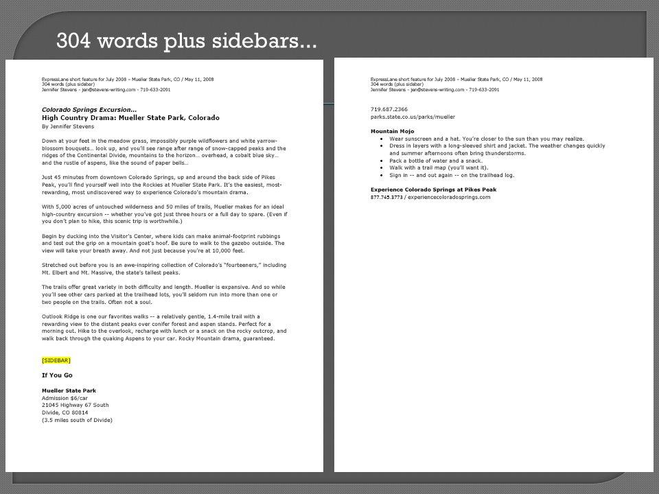 304 words plus sidebars...