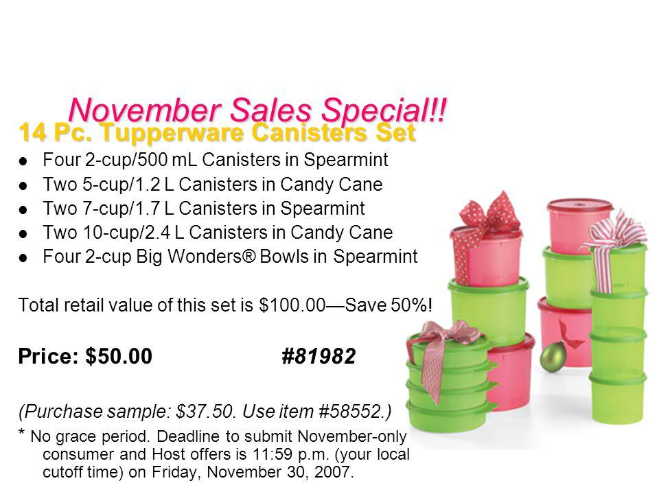 November Sales Special!. 14 Pc.