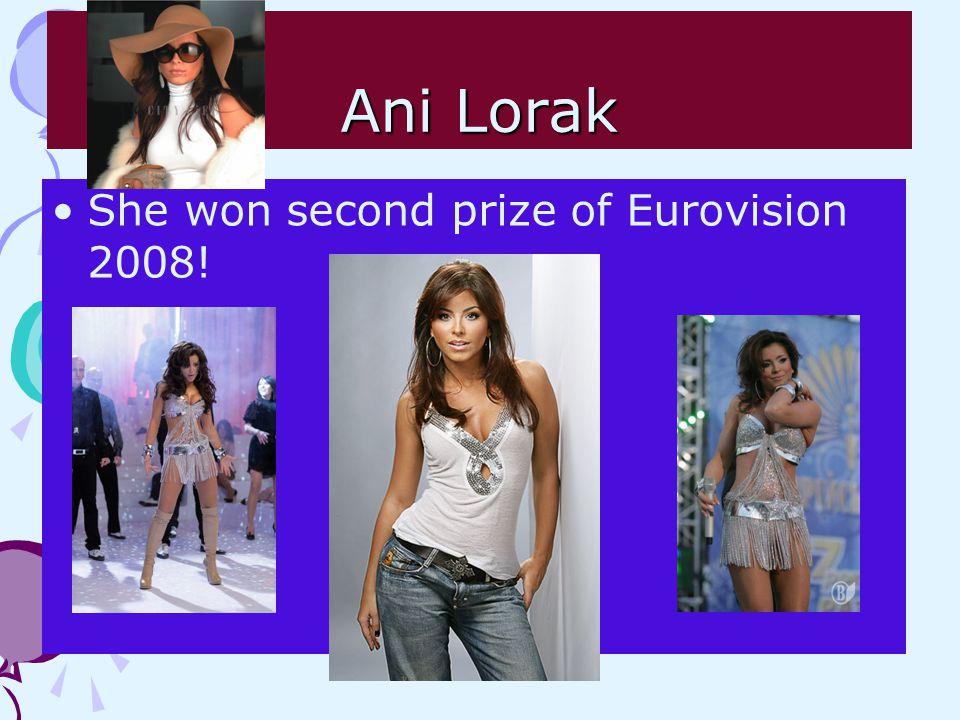Ani Lorak She won second prize of Eurovision 2008!