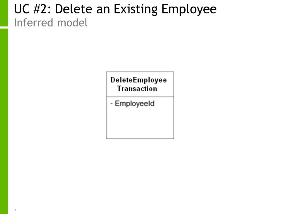 7 UC #2: Delete an Existing Employee Inferred model