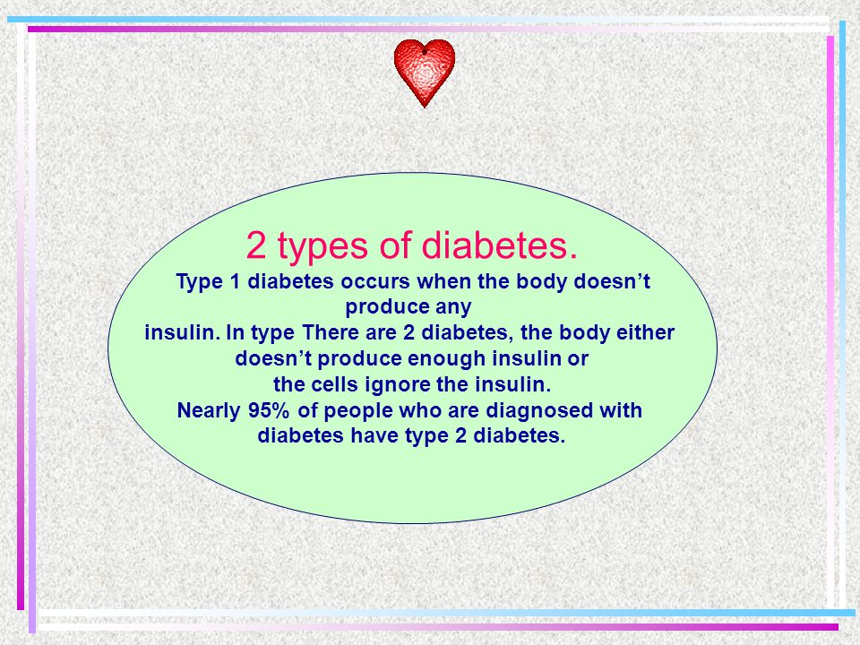 What is diabetes? Your body changes most of the food you eat into glucose (a form of sugar). Insulin is a hormone produced by the pancreas that allows