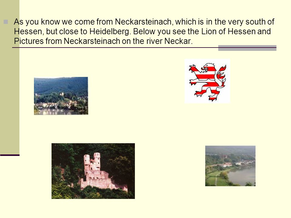 Neckar The river Neckar is a 367 km long and 25 to 50 meters wide tributary of the Rhein.