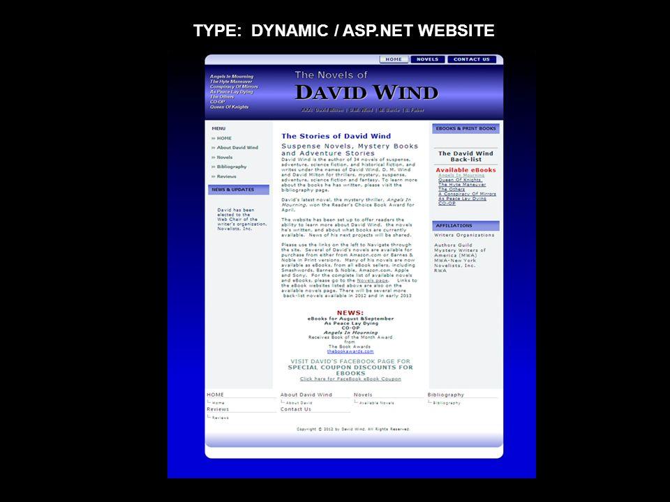 TYPE: DYNAMIC / ASP.NET WEBSITE