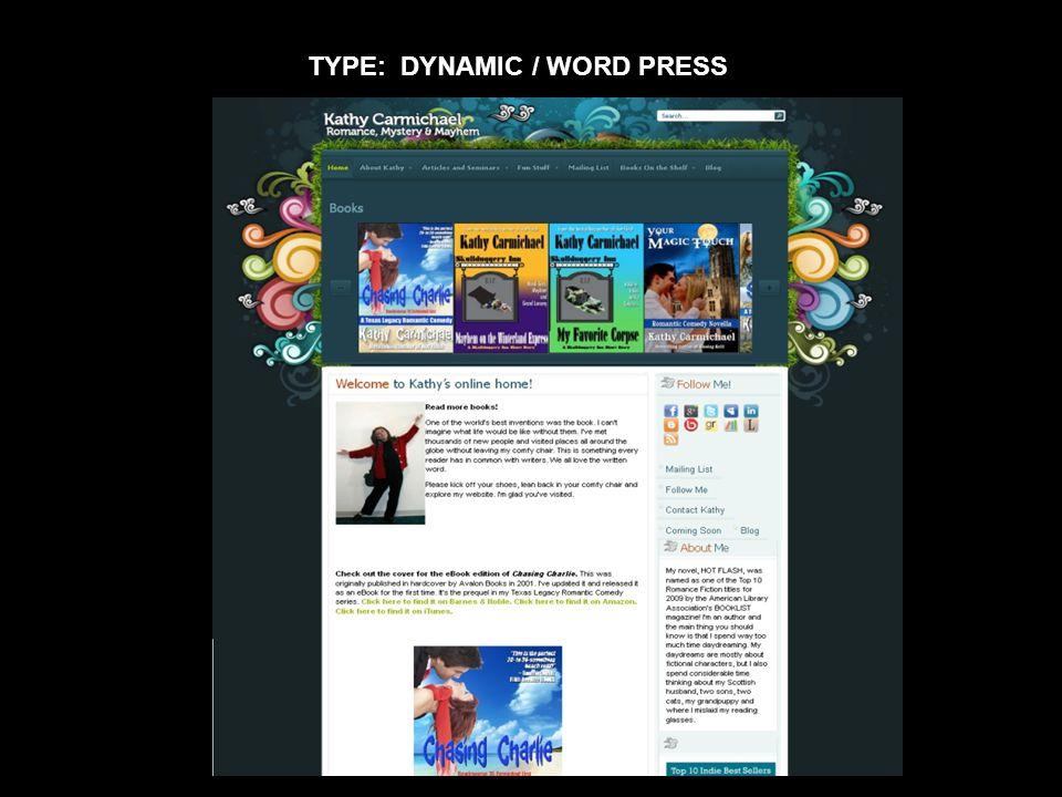 TYPE: DYNAMIC / WORD PRESS